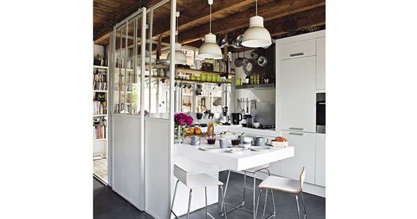 Des cloisons mobiles et faciles pour la cuisine  Cuisine et Salons