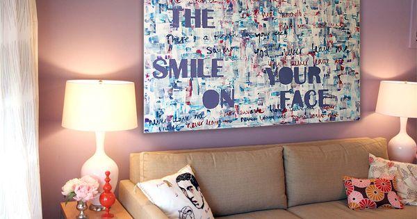 The smile on your face lyrics painting from daniel daniel pinterest face - Sofa stijl jaar ...
