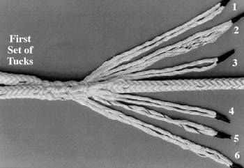 12 Strand Eye Tuck Spliced Splicing Rope Braid Patterns
