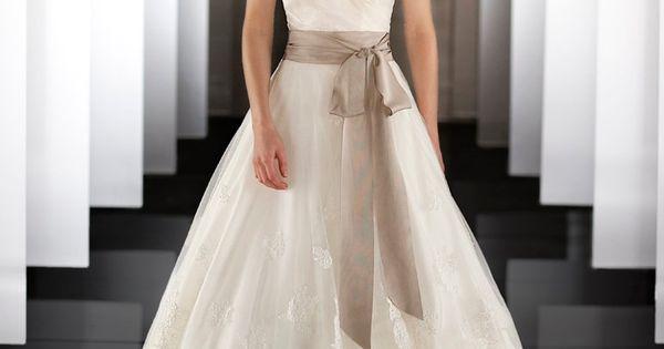 Martina Liana 437 Silk Organza wedding ball gown features a detachable lace