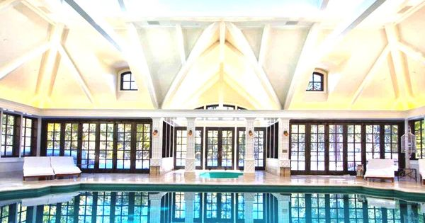Mansion with indoor pool waterslide  Mansions with Indoor Pools | Mansions With Pools And Waterslides ...