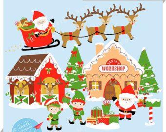 Free Santa Workshop Cliparts Download Free Clip Art Free Clip Art Santas Workshop Holiday Countdown Reindeer