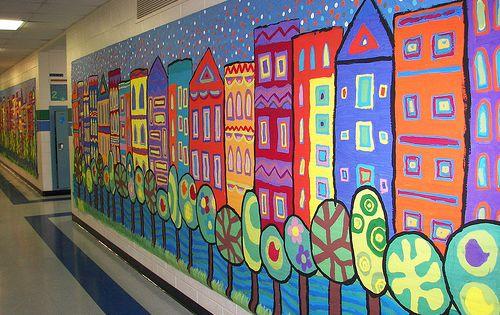 City mural arts visuels pinterest construction de la for Ecole d art mural