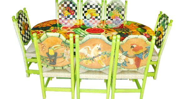 Comedor mosaico de frutas y aves descripci n dise o for Comedor de frutas para bebe