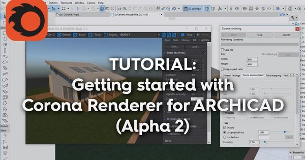 Getting Started With Corona Renderer For Archicad Alpha 2 Corona Get Started Alpha