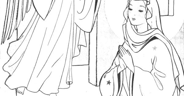 Annunciation Coloring Pages Coloring