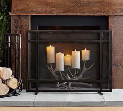 Fireplace Accessories Pottery Barn Fireplace Screens Fireplace Fireplace Doors