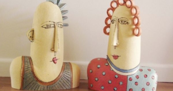 paper mache - sculptures - Paper Craft Ideas | Pinterest - Klei