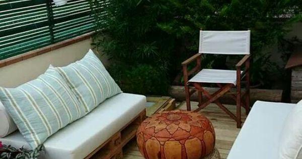 Muebles con palets cojines exterior palet mania pinterest - Cojines muebles exterior ...
