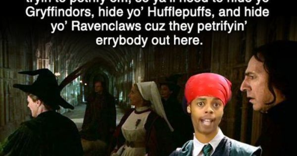 Harry Potter - Hide Yo Muggle-borns. . . I laughed more then