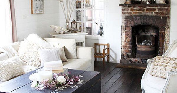 FLOORS shabby chic + neutral living room