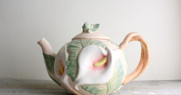 Vintage Fitz And Floyd Calla Lily Teapot Vintage Lilies And Calla Lilies