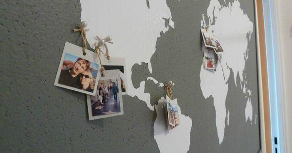 coin bureau tableau carte du monde murs accessoires pinterest decoration bureaus and salons. Black Bedroom Furniture Sets. Home Design Ideas
