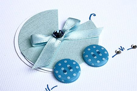 3 BABY BLUE PRAM DIE CUTS FOR CARDS OR CRAFTS