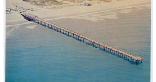 Aerial view paradise pier inc 5 miles north of surf for Surf city pier fishing report facebook