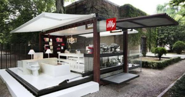 Illy Cafe Push Button Container House Container Coffee Shop Mobile Coffee Shop Container House