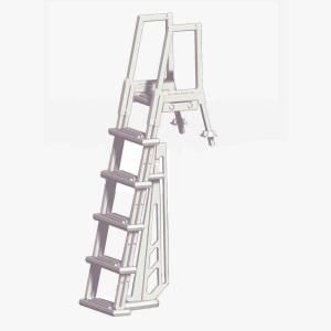 Blue Wave Heavy Duty In Pool White Ladder For Above Ground Pools Ne1175 The Home Depot Pool Ladder Swimming Pool Ladders Pool Steps
