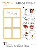 Free Kindergarten Worksheet With An Easy To Use Slider That Will Help Children Learn The Da Kindergarten Themes Free Kindergarten Worksheets Preschool Calendar