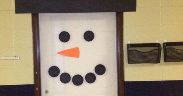 classroom door idea for winter-