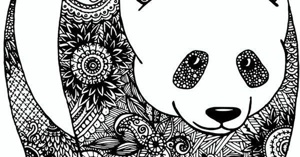 Panda Zentangle Pinteres