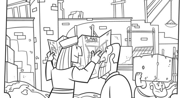 Rebuilding the Temple - Bible Coloring Pages | What's in ...