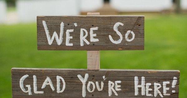Sweet, rustic wedding sign.