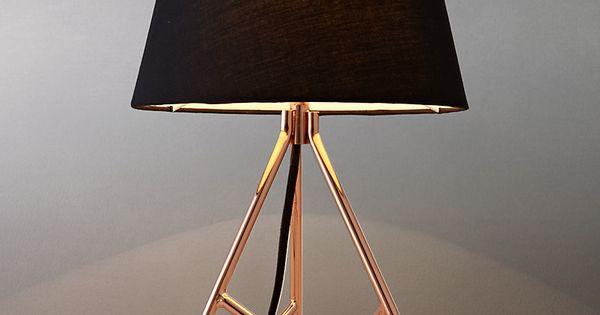John lewis albus twisted table lamp black copper for Copper floor lamp john lewis