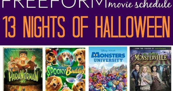starts soon freeform 13 nights of halloween 2016 movie schedule movie schedule 2016 movies. Black Bedroom Furniture Sets. Home Design Ideas