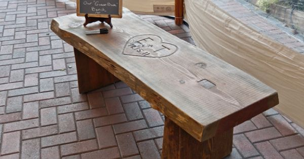 Alternative to a guest book, have your guests sign the bench. I