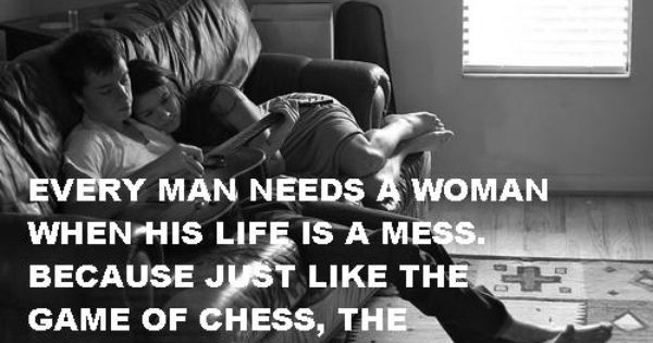 """..just like the game of chess, the queen protects the king."""