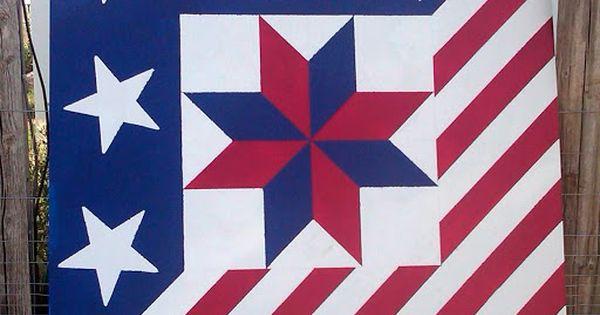 Barn Quilt Patriotic Star Of Lemoyne Barn Quilts