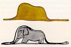 A Boa Constrictor Digesting An Elephant The Little Prince Le Petit Prince