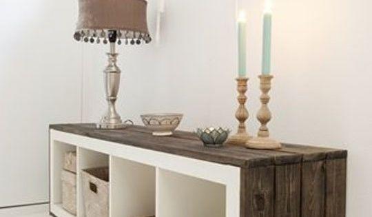 10 Super Stylish IKEA Transformations & DIY Hacks. LOve the wood on