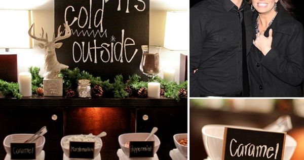 Hot chocolate bar for a winter shower