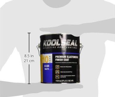Kool Seal Kst063600 16 Elastomeric Roof Coating 115 Fl Oz Liquid White In 2020 Roof Coating Rubber Roof Coating Elastomeric Roof Coating