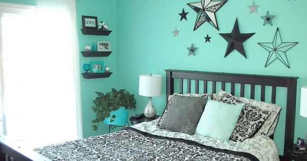 Teal Black And White Bedroom For Molly If We Get That