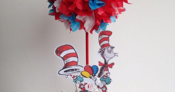 Dr Seuss Birthday Party, Decoration, Centerpiece