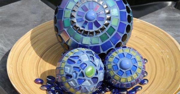 Moza ek ballen glasmozaiek eigen werk pinterest knutselen - Decoratieve spiegel plakken ...