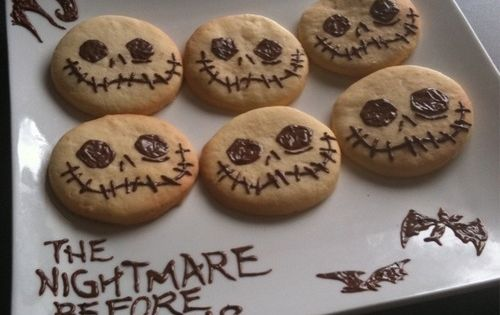 Nightmare Before Christmas cookies, Jack Skellington's smile