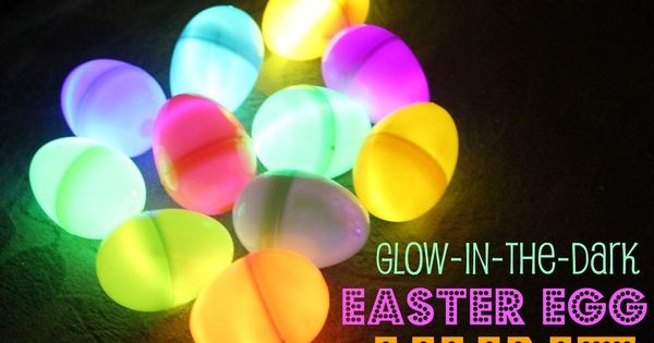 Glow in dark easter egg hunt. Put glow sticks inside eggs and
