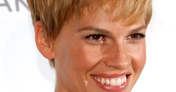 wedge haircut hilary swank pixie funky hair cuts 1392