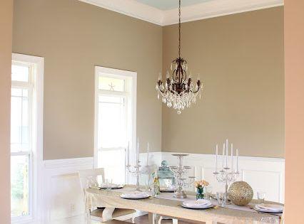 Paint color ivory brown by valspar light blue ceiling for Soft brown paint colors