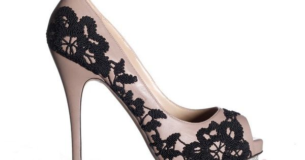 Valentino's leather & lace peep toe pump. Voted sexiest shoe; easily recreate-able.