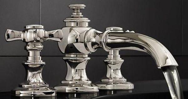 Lugarno 8 widespread faucet set restoration hardware for Restoration hardware bathroom faucets