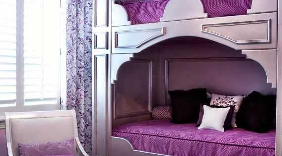 I love this, even for an adults room...if the bunk beds were queen sized that would rock!!!