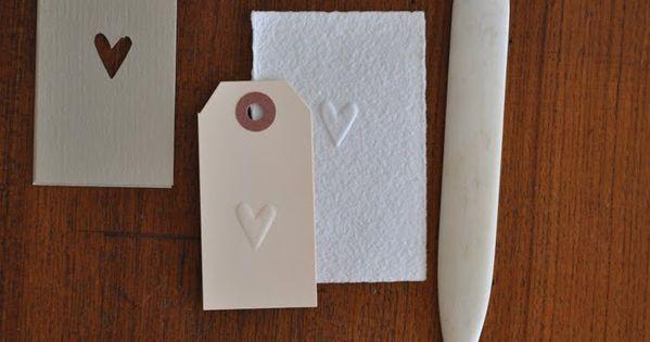 DIY embossed tags / cards