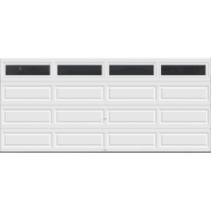 Clopay Premium Series 16 Ft X 7 Ft 12 9 R Value Intellicore Insulated White Garage Door With Windows Exc White Garage Doors Garage Doors Garage Door Windows
