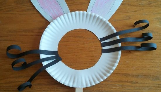 Easter Bunny Mask- Kids Craft, can also be used for other mask