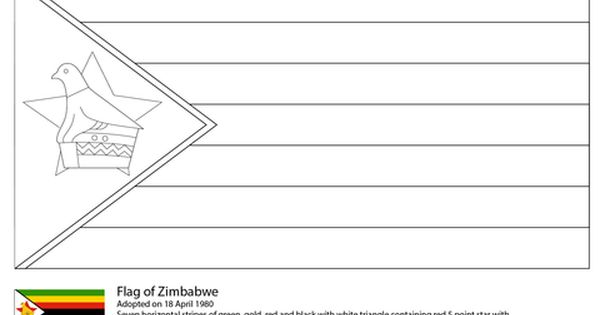 Flag Of Zimbabwe Coloring Page Zimbabwe Flag Free Printable