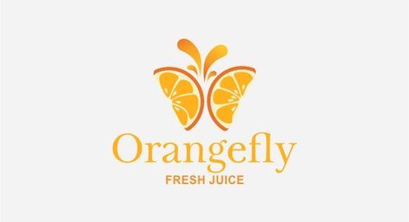 Orangefly Logo – butterfly inspired logo
